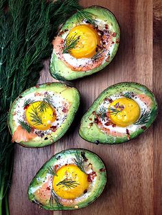9 Deliciously Stuffed Avocado Recipes | SMOKED SALMON & EGG | If you're not incorporating avocados into your breakfast routine, you're doing it wrong. These tasty (and fancy-looking) baked avocados are shockingly easy to make … and even the most vehement toast advocates won't miss the carbs.