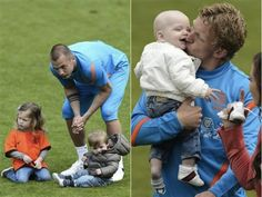 It was bring your bubba to work day for the Netherland national team (from 18.05.2012)