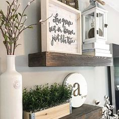 Aren't these shelves beautiful!?! From the tobacco basket peeking out to the sign to the greenery and of course the lantern, they are styled to perfection. Robin @rock.n.robs is our pick for this week's #fortheloveoflanterns feature! Go over and tell Robin hello and take a look at her beautiful feed! Thank you to everyone who shared and please join us next week for another round of #fortheloveoflanterns. . . . . #vignettes #homedecor #igdecor #ighome #home #decor #farmhouse…