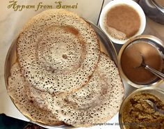 Samai [ Little millet ] Appam served with Coconut milk and chutney Tiffin Recipe, How To Boil Rice, Millet Recipes, Coconut Chutney, Cardamom Powder, Chutney Recipes, How To Make Tea, Coconut Milk, Vegetarian Recipes