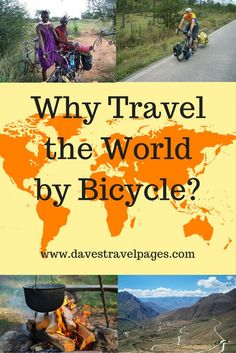 Bicycle touring is a great way to travel the world. Aren't sure if seeing the world by bike is for you? Here are some of the pros and cons to help you out. Slow Travel, Ways To Travel, Travel Info, Travel Tips, Cycling Holiday, Holiday Travel, Travel Around The World, Around The Worlds, Riding Holiday