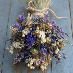 provence dried flower wedding bouquet by the artisan dried flower company | notonthehighstreet.com