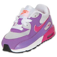 promo code 5bcbe 4ae6f Girls  Toddler Nike Air Max 90 Running Shoes   FinishLine.com   Pure Plat