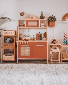 Little Play Kitchen Update I Am Honestly The Biggest Fan And Can T Imagine How Insane It Would Have - Informations About Little Play Kitchen Update I Am Honestly The Biggest Fan And Can T Imagine How - Playroom Design, Playroom Decor, Ikea Toys, Ikea Play Kitchen, Toddler Playroom, Montessori Playroom, Toy Rooms, Big Girl Rooms, Updated Kitchen