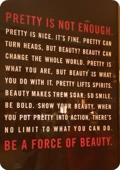 Pretty isn't enough