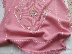 copertina cotone lana per culla ricamata, by maglieria magica, 89,90€ su misshobby.com