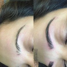 FLEEKY FRIDAY we went from nothing to something dolls!!! 3D Hair Strokes will change your brow game  -----------------------------------------------------------BOOK WITH ME NOW for amazing eyebrows  702-333-0755 @threadedbeautyvegas  If your coming to Vegas in 2016 book now and get your brows right  ------------------------------------------------- semi permanent tattoo realistic hair like strokes lasts up to one year takes about 1 hour to do LA  JANUARY 3 &  4 (  only 2 spots left dolls…