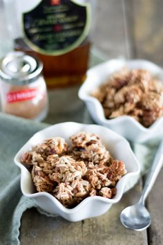 Paleo Maple Granola Ingredients  1 cup almond slivers 1 cup large coconut flakes 1 cup sunflower seeds 1 cup chopped pecans 6 tablespoons maple syrup 1 tablespoon vanilla extract 1 1⁄2 teaspoons ground cinnamon 1⁄2 teaspoon sea salt