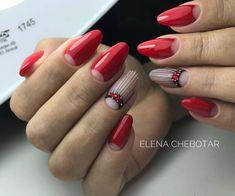 Make an original manicure for Valentine's Day - My Nails Glitter Nail Polish, Acrylic Nails, Gel Nails, Nailart, American Nails, Nails Design With Rhinestones, Classic Nails, Halloween Nail Art, Super Nails
