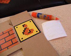 """diy mario boxes, 4x4"""" boxes at michaels"""