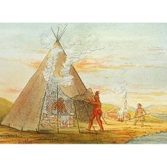 Science Source Stretched Canvas Art - Native American Indian Sweat Lodge - Medium 24 x 18 inch Wall Art Decor Size. Sweat Lodge, Lodge Decor, Stretched Canvas, Native American Indians, Wall Art Decor, Nativity, Canvas Art, Science, Medium