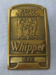 1931 WILLYS OVERLANDER WHIPPET SIX CAR RADIATOR BADGE