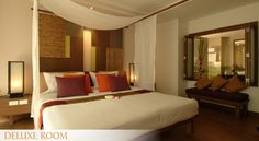 Deluxe Room - RarinJinda Wellness Resort in Chiang Mai, Thailand.  www.rarinjinda.com
