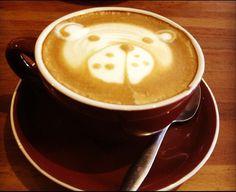 Panda and Other Latte Art Dilema, Rice Grain, Coffee Latte, Latte Art, Coffee Drinks, Beverages, Tableware, Amazing, Food