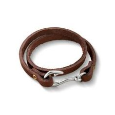 Fish Hook Leather Bracelet at James Avery, for Crawfish Junction of course!