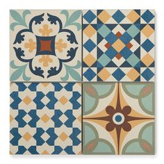 Casablanca Mix Moroccan Style Wall Tiles x cm Patterned Wall Tiles, Wall And Floor Tiles, Moroccan Tiles, Moroccan Decor, Moroccan Bedroom, Moroccan Lanterns, Moroccan Interiors, Hall Flooring, Kitchen Flooring