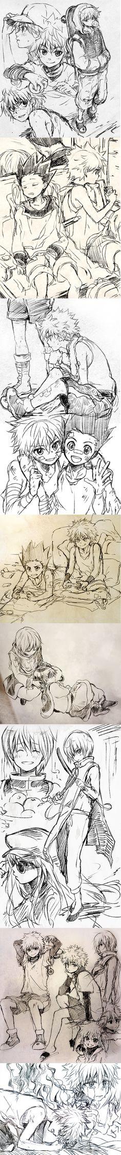 hxh_sketches_by_nuriko_kun-d7dqqtu