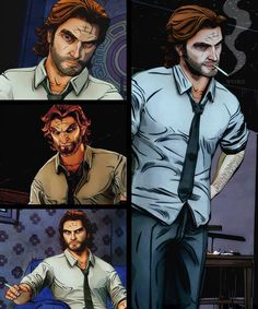 Bigby. Fables Comic, The Wolf Among Us, Canon Ship, Night In The Wood, Big Bad Wolf, Detroit Become Human, Life Is Strange, Geek Culture, Dragon Age
