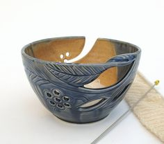 Valentine Cabin Decor Autumn Creek Blue Grey by blueroompottery, $36.00