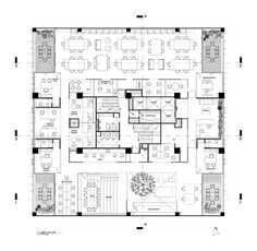 Image 24 of 29 from gallery of CincoMdos / JSa. Cafe Floor Plan, Restaurant Floor Plan, Floor Plans, Office Layout Plan, Office Space Planning, School Floor Plan, Office Floor Plan, Commercial Office Design, Floor Plan Drawing