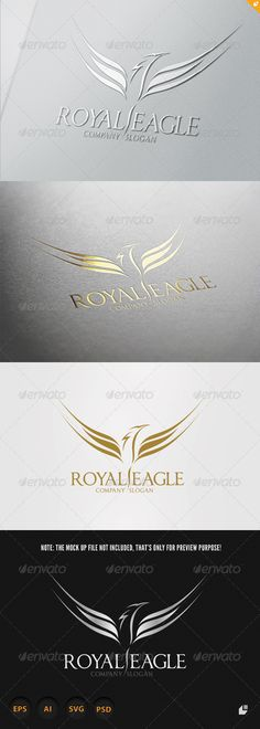 Royal Eagle Logo #GraphicRiver Royal Eagle- Logo Template This logo design for creative company. Logo Template Featu300PPI PSD ( Adobe Photoshop File ) SVG file format CMYK 1