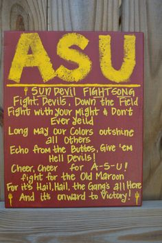 Arizona State University FIGHT SONG by PunkinandPeaches on Etsy, $25.00