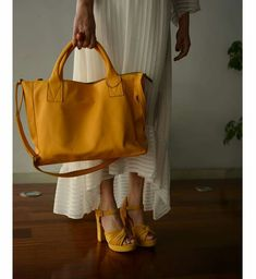 Apricot yellow top handle crossbody bag by morelle Mustard Top, Crossbody Bags, Tote Bag, Yellow Top, Longchamp, Handle, Collection, Tops, Fashion