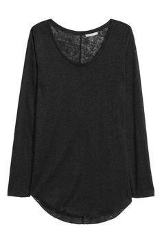 Long linen top | H&M