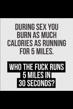 Sexual jokes about working out