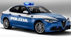 Alfa Romeo Giulia New Police Car in Italy