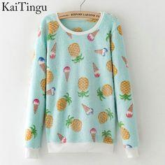 KaiTingu 2016 Brand New Fashion Autumn Long Sleeve Tracksuit Women Hoody Harajuku Kawaii Emoji Cute Pullover Sweatshirt Tops
