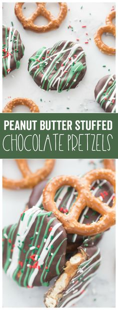 Peanut Butter Stuffed Chocolate Pretzels are a delicious holiday treat!  The classic combination of chocolate and peanut butter are delicious with a salty pretzel.