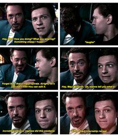 Tony Stark funny moments Spider Man Homecoming