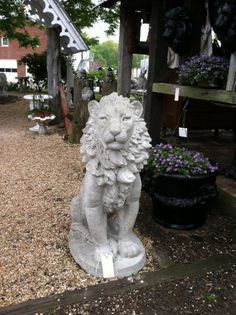 Concrete lion  from Anne at The Old Lucketts Store