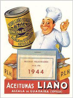 Cartel publicitario de aceitunas.