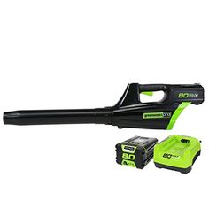 GreenWorks Pro GBL80300 80V 125MPH – 500CFM Cordless Blower, 2Ah Battery and Charger Included  Up to 70 minutes of run time with fully charged 2AH battery, battery includedDigiPro brushless motors are more reliable and delivers gas equivalent performance to a 32cc gas engineUp to 500CFM and 125MPH to blow through wet/dry leaves and debris  http://industrialsupply.mobi/shop/greenworks-pro-gbl80300-80v-125mph-500cfm-cordless-blower-2ah-battery-and-charger-included/