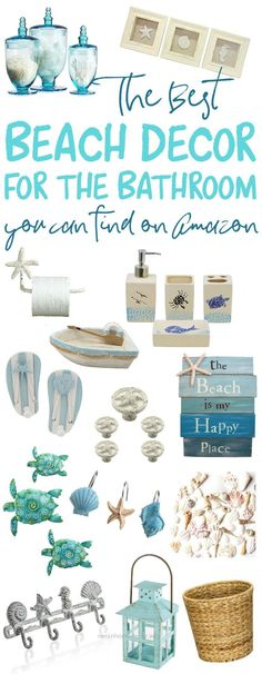 Cool You need to see these great finds on Amazon to decorate your bathroom with a beach theme!  The post  You need to see these great finds on Amazon to decorate your bathroom with a bea…  a ..