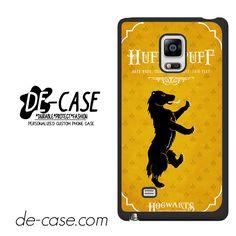 Hogwarts Hufflepuff For Samsung Galaxy Note Edge Case Phone Case Gift Present YO