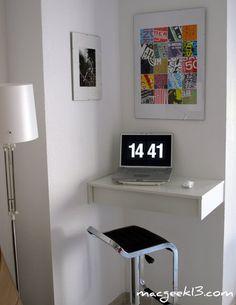 Ikea hack: un zócalo convertido en mesa de ordenador : x4duros.com