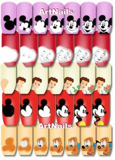 Disney nail art step by step I think Carrie could do this!