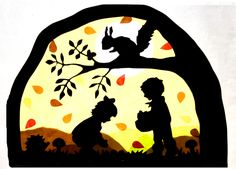Fensterschmuck - Fensterbild Herbst Transparentbild Waldorf - ein Designerstück von Juliane-Buness bei DaWanda