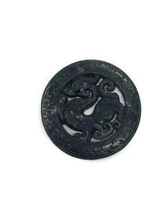 Jade Pendant Green Dragon Pendant Dark Jadeite Amulet Jade