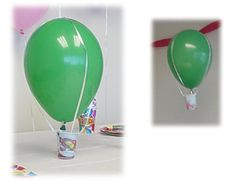 Hot air balloon craft- use when studying transportation? Kids Party Themes, Party Activities, Activities For Kids, Party Ideas, Balloon Crafts, Balloon Decorations, Preschool Crafts, Crafts For Kids, Transportation For Kids