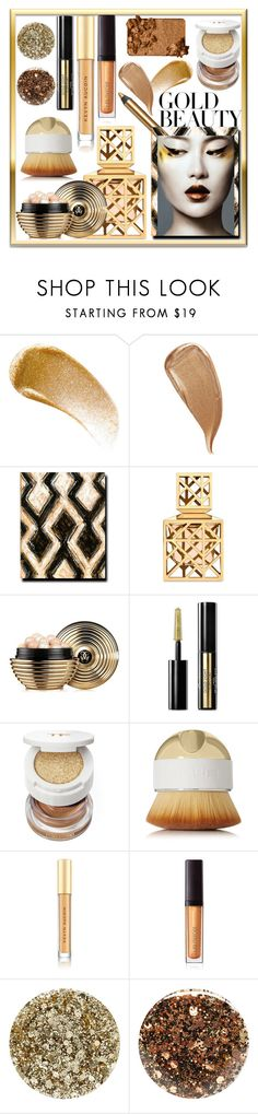 """""""Golden"""" by looking-for-a-place-to-happen ❤ liked on Polyvore featuring beauty, BBrowBar, Kevyn Aucoin, Tory Burch, Guerlain, Tom Ford, Artis, Laura Mercier, Smith & Cult and Nails Inc."""