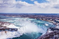 Niagara+Falls+during+Winter Waterfalls In The World! More Pins Like This At FOSTERGINGER @ Pinterest