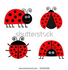 Ladybug Isolated Vector Stockfoto's, afbeeldingen & plaatjes | Shutterstock