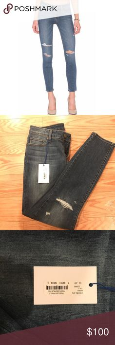 NWT Paige Verdugo Ankle Troy Destroyed Jeans NWT, never worn. Really comfy and perfect for casual use or dressing up. Size 29. Paige Jeans Jeans Ankle & Cropped