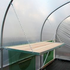 Drop-Down Polytunnel Bench - Benching and Staging - Hobby Range - Northern Polytunnels