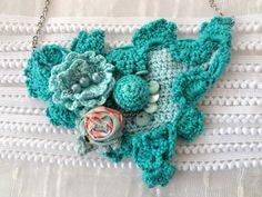 Crochet art necklace