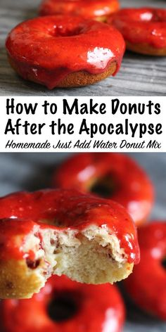 How to Make Donuts After the Apocalypse ~ Homemade Just Add Water Donut Mix using shelf stable ingredients ~ Make donuts (with frosting!) anytime with an easy homemade mix ~ No perishables needed! Donut Recipes, Whole Food Recipes, Dessert Recipes, Cake Recipes, Emergency Food, Survival Food, Emergency Preparedness, Keto Friendly Desserts, Low Carb Desserts